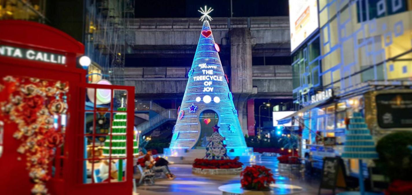 The TreeCycle of Joy ต้นคริสต์มาสจากกระป๋องอะลูมิเนียม (รอ) รีไซเคิล